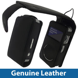 Black Genuine Leather Case for Pure Pocket DAB 1500 Cover Holder Preview